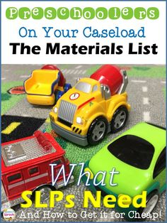 The materials SLPs need for preschool speech therapy plus 10 thrifty tips on how to get them for cheap. www.speechsproutstherapy.com