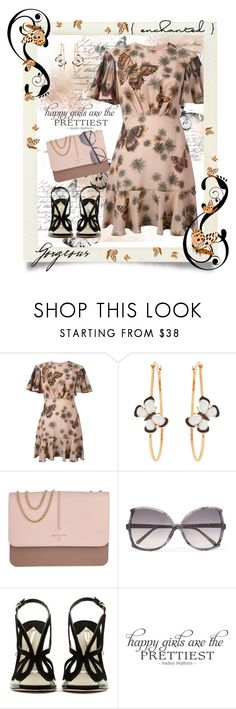 """""""Happy Girls Are The Prettiest..."""" by curvygirlamy ❤ liked on Polyvore featuring Valentino, Christina Debs, Patrizia Pepe, Linda Farrow and WALL"""