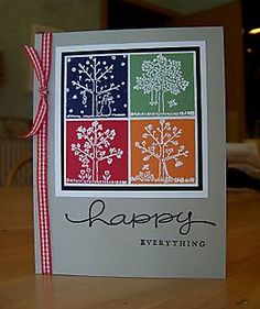 Stamp(s) used: Stampin' Up! A Tree For All Seasons | love the colors