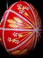 PYSANKY  wheat and daisies, 16 triangles