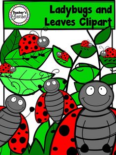 Ladybugs and Leaves Clipart Bundle
