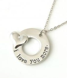 I Love You More Stamped Necklace | The Grief Toolbox