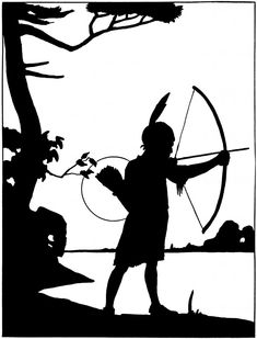 Vintage Hiawatha Silhouette Image! - The Graphics Fairy