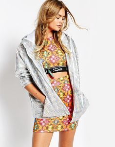 f0edfedc4b0 Jaded London Hooded Festival Jacket In Holographic Fabric at asos.com