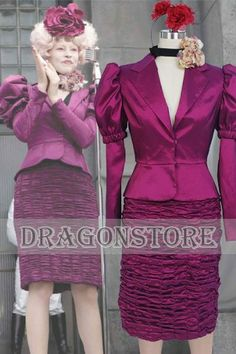 Amazon.com: The Hunger Games Effie Trinket Dress Cosplay Costume: Sports & Outdoors