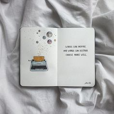 """Art Journal Creative: """"Words can inspire and words can hurt choose yours well"""" - Awesome Art Pins Bullet Journal Art, Bullet Journal Ideas Pages, Bullet Journal Inspiration, Journal Pages, Journal Layout, The Words, Words Can Hurt, Journal Quotes, Book Quotes"""
