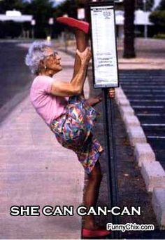 Reminds me of my Granny My goal at any age...