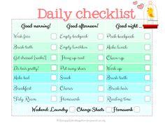 Raising Up Rubies- Blog: back to school checklist ... free print ♥