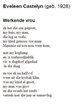 Afrikaans, My Man, Poems, Poetry, Verses, Afrikaans Language
