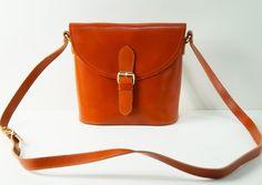 """Ledertaschen - Handtasche """"Emilia"""", in caramel braun, echt Leder - ein Designerstück von taschenkinder bei DaWanda"""