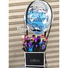 Balloon Flowers Bouquet Candy Baskets Gift Ferrero