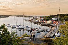 View Resö port, Bohuslän Sweden