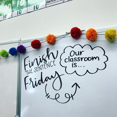 Looking for a new morning activity Fillintheblank questions are easy, and you know your students will be excited to write on the board!… is part of Morning activities - Future Classroom, School Classroom, Classroom Activities, Classroom Organization, Classroom Ideas, Classroom Whiteboard, Classroom Management, Classroom Quotes, Spanish Classroom