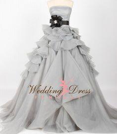 Wedding Dress Fantasy - Gray Wedding Dress  - Available in Every Color, $1,200.00 (http://www.weddingdressfantasy.com/gray-wedding-dress-available-in-every-color-3/)
