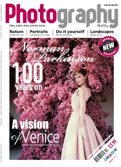 April issue of Photography Monthly. Top stories: Norman Parkinson 100 years on and being Cleopatra for a day.