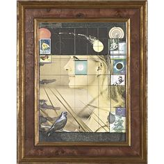 one surrealist a day Portrait of Christine Kaufman by Joseph Cornell. Printed paper collage, stamps and graphite on board, 12 by 19 inches Crane Kalman Gallery, London Joseph Cornell Boxes, Found Art, Assemblage Art, Collage Art, Collages, Collage Ideas, Box Art, American Artists, Oeuvre D'art