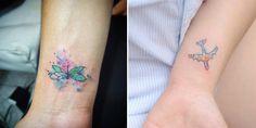 Wasserfarben Tattoo klein dezent tolles Design