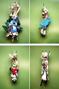 diy disney character wedding boutonnieres! the groom made each of his 8 groomsmen a boutonniere with a disney character that he thought represented their personality. so awesome! #disney #wedding #disneywedding