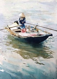 Marcos Beccari is a Brazil based watercolor artist and a professor at UFPR (Public university in Curitiba, Brazil). His paintings are consider realism. Watercolor Scenery, Watercolor Water, Watercolor Artists, Watercolor Portraits, Watercolor Landscape, Watercolour Painting, Watercolors, Boat Painting, Seascape Paintings