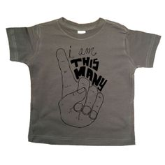 I'm This Many - One Finger - One Year Shirt - Kids Unique TShirt - Boys Birthday - Girls Birthday - Baby and Toddler - Hipster Kids Shirt on Etsy, $16.00