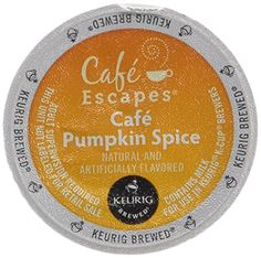 Cafe Escapes Cafe Pumpkin Spice Keurig KCups Coffee 16 Count * You can find more details by visiting the image link.