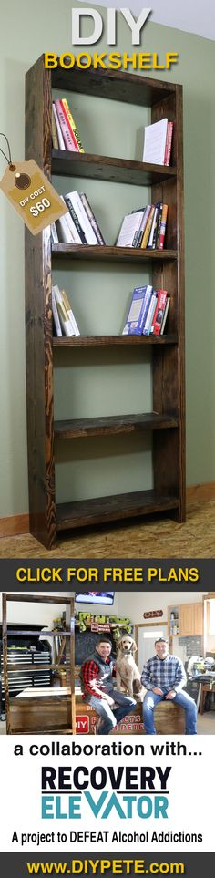 A simple DIY bookshelf and how hobbies have a positive impact on people.