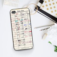 A phone case that looks like a library card. | 27 Gifts Every Book Lover Should Ask For This Year