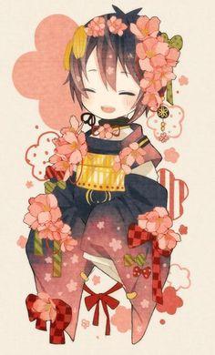 Mikatsuki Munechika Touken R Kawaii Chibi, Anime Chibi, Kawaii Anime, Anime Manga, Anime Art, Anime Love, Anime Guys, Touken Ranbu Mikazuki, Animation