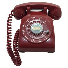 1956 Deep Red Rotary Dial Phone