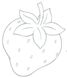 Strawberries Fruits Coloring Page For Kids Pages