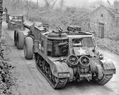 An interesting image of a M3 Grant being re-purposed as a heavy artillery hauler.  France, 1944. ~ Vengeance_Lord