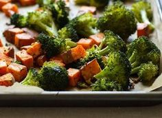 Rosemary   Garlic Roasted Broccoli and Sweet Potatoes