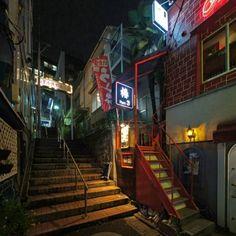 Aesthetic Japan, City Aesthetic, City Landscape, Urban Landscape, Concept Art Tutorial, Tokyo Night, Cyberpunk City, Japan Street, Dark City