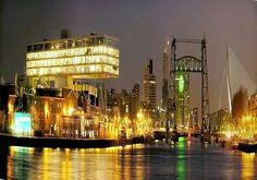 Rotterdam the Netherlands A major shipping port of the world Barbados, Places Around The World, Around The Worlds, Bahamas, World View, City Landscape, Through The Looking Glass, Antwerp, Best Cities