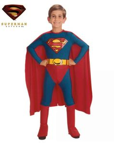 $19.99 RubieS Costume Co Standard Superman Costume (Medium). Your child can now be Superman in this Officially Licensed Kids Superman costume. Costume includes:JumpsuitAttached CapeAttached Boot TopsBelt