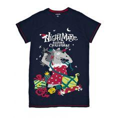 Hatley Women s ONE SIZE Sleepshirt NIGHTMARE BEFORE CHRISTMAS  sleep horse