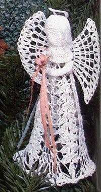 Crochet a Lace Standing Angel ~ free pattern http://2good2lose.com/ornaments/lace-angel-crochet-info2.jpg