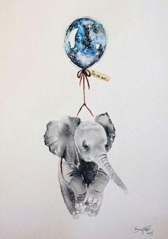 Love this elephant wallpaper