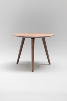 Coffee table round table side table made of solid by Habitables