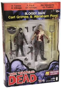 Walking Dead Comic - Carl Grimes N Abraham Ford Sereis 4 PX Excl Actn Fig 2Pack