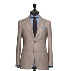 Tailored 2-Piece Suit – Fabric 4352 Plain Brown Cloth weight: 270g Composition: 100% Wool Super 120's