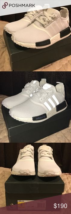 0fecd3d063830 Adidas NMD R1 White Black Size 8 Deadstock