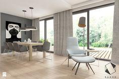 (Warszawa) Projekt domu jednorodzinnego 13 - Jadalnia, styl nowoczesny - zdjęcie od BAGUA Pracownia Architektury Wnętrz