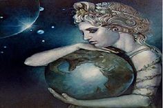 ✯GAIA ✯ - Mother Earth - This primordial Greek Goddess personifies nature and the earth. She was born before time. A child of Chaos, Gaia gave birth to the god Uranus to be her companion, the sky, the sea, as well as the mighty mountains. Gaia Goddess, Earth Goddess, Mother Goddess, C G Jung, Rome Antique, God Pictures, Greek Gods, Greek Mythology, Roman Mythology