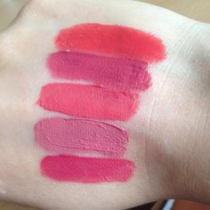 Bourjois Rouge Edition Velvet (T-B) 04 Peach Club, 07 Nude-Ist, 09 Happy Nude Year, 10 Don't Pink Of It, 11 So Hap'pink