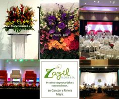 Diseño floral para eventos empresariales , corporativos, convenciones.   www.floreriazazil.com  #floreriasencancun #floreriazazil