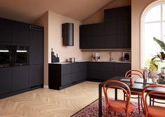 Kristiansand, Kitchen Cabinets, Beige, Interior, Table, Furniture, Home Decor, Modern, Decoration Home