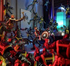 ManOfAction7666 put together this diorama of Nick Fury and Captain America taking on Baron Zemo and the hordes of HYDRA. They're all from Hasbro's Marvel Legends line of action figures.