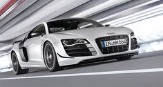 """Audi R8 GT. This super-villain version of Audi's flagship sports car features 560 hp, up from 525 in the """"stock"""" model, a curb weight that's 220 lbs. less than the normally aspirated version, a zero to 62 time of 3.6 seconds and a top speed that's just a hair off 200 mph."""
