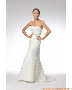 Günstiges liebstes Hochzeitskleid aus Organza und Satin
